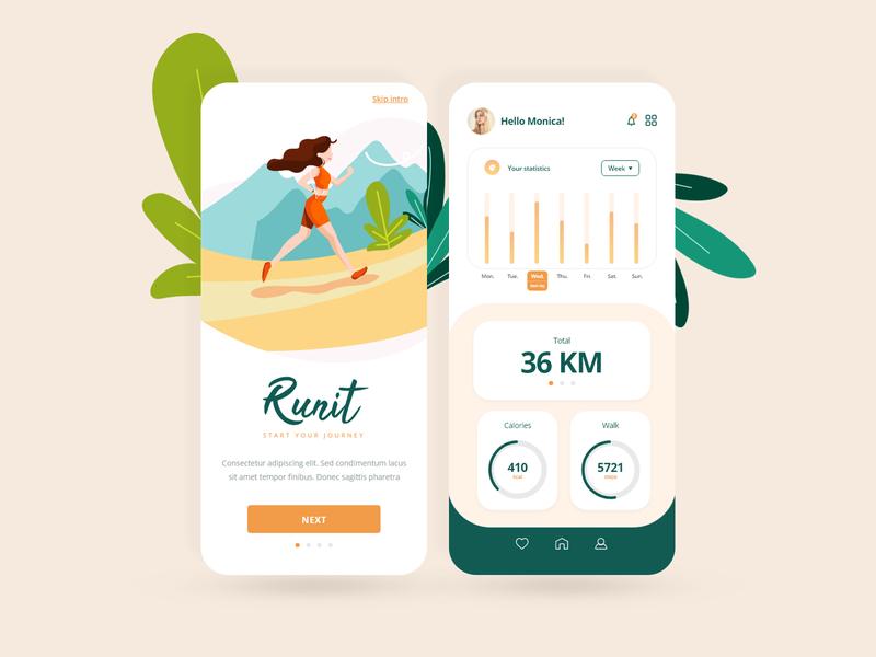 Running app - fitness, jogging, sport.
