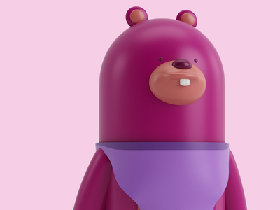 Noa dribbble invites vray visual render illustration graphicdesign design character c4d pink 3d