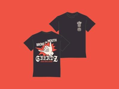 Broke Da Mouth Grindz t shirt design procreate portfolio photoshop logo illustrator illustration identity icon digital art design branding