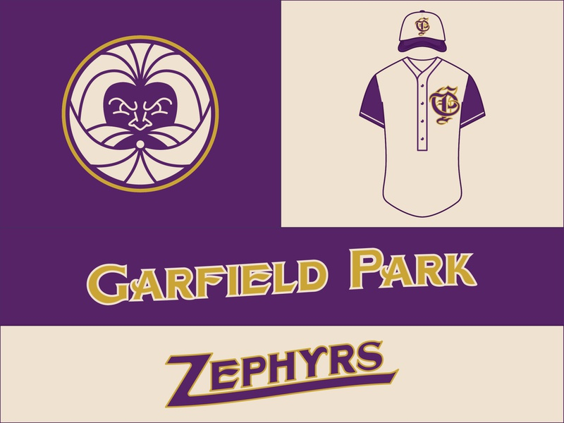 Garfield Park Zephyrs chicago t shirt art t shirt design sports logo baseball hat typography baseball logo sports branding baseball procreate logo digital art design identity branding
