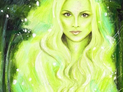 Spring Forest Fairy Illustration