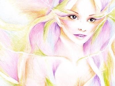 Flower Petals Girl Illustration