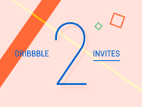 Two Dribbble Invites giveaway ticket draft invite