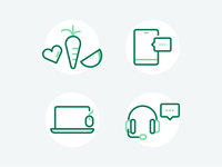 Customer Support Icons nutrition icon design icon icons health call center emails contact phone customer service customer support nutribullet