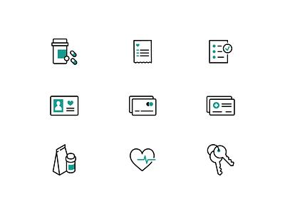 Pharmacy Icons ui design pills illustration icon design design pharmacy icons icons amazon amazon pharmacy pillpack