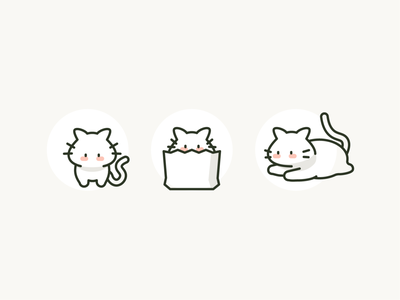 Meow Icons kitten meow icon design cat icons chonker cat cats icons
