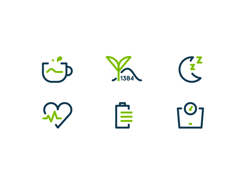Matcha - Health Benefits Icons by Vy Tat - Dribbble