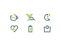 Matcha - Health Benefits Icons