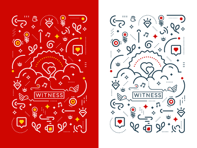 The Creative Process - Heart bird heart notebook cover design illustrations lines icons creative process light bulb reno