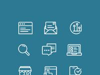 Digital marketing icons while