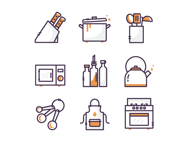 Kitchen Icons P.1
