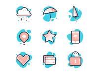 Rainy Day Icons