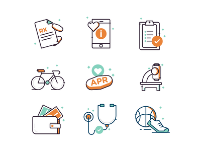 Medical Icons pharmacy apr prescription pills illustration icons medical