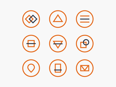 Abstract Icons set simple flat modern ui abstract icons abstract icons