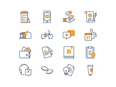 Prescription Icons icon set appointment health drugs prescription medical illustration icons