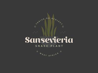 Snakeplant Badge plant kps3100 badge sansevieria snake plant plants illustration