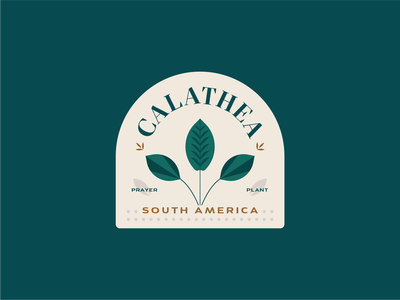 Calathea Badge illustration badge prayer plant calathea plant kps3100