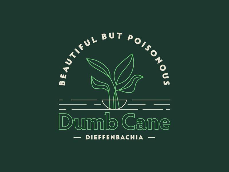 Dumb Cane plants badgedesign badge dieffenbachia dumb cane plant illustration plant kps3100