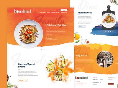 Roundabout Catering Website restaurant catering food ux ui homepage branding website