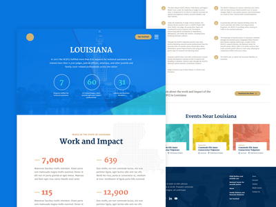 Secondary page design stats homepage ux ui map website
