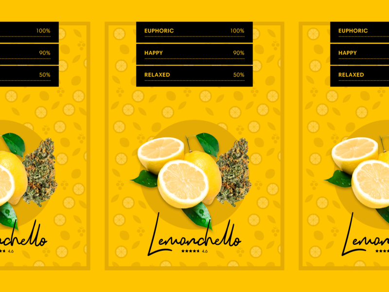 Strain Card illustration card lemon patterns strain packaging