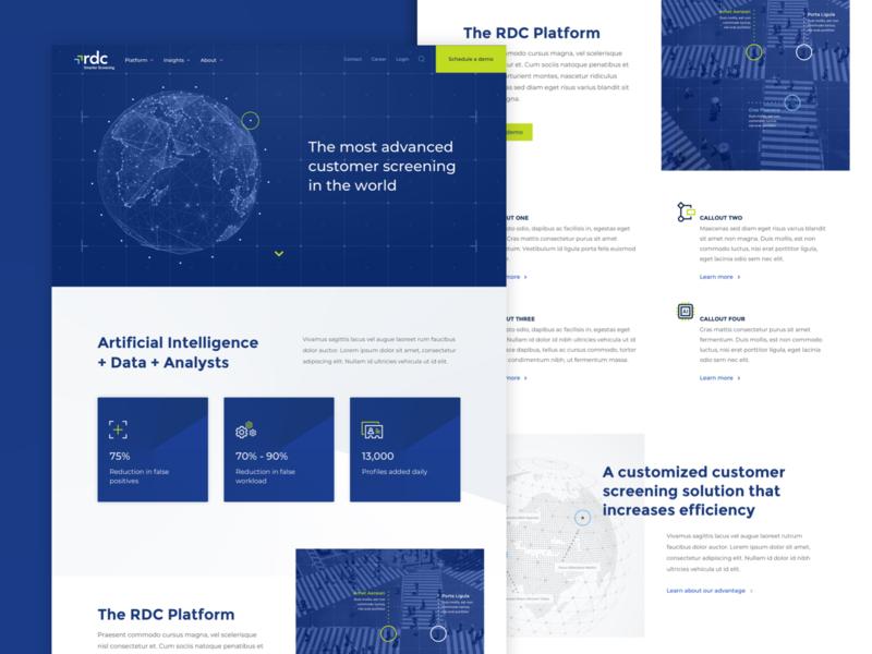 Homepage exploration platform data ai tech ux ui website homepage
