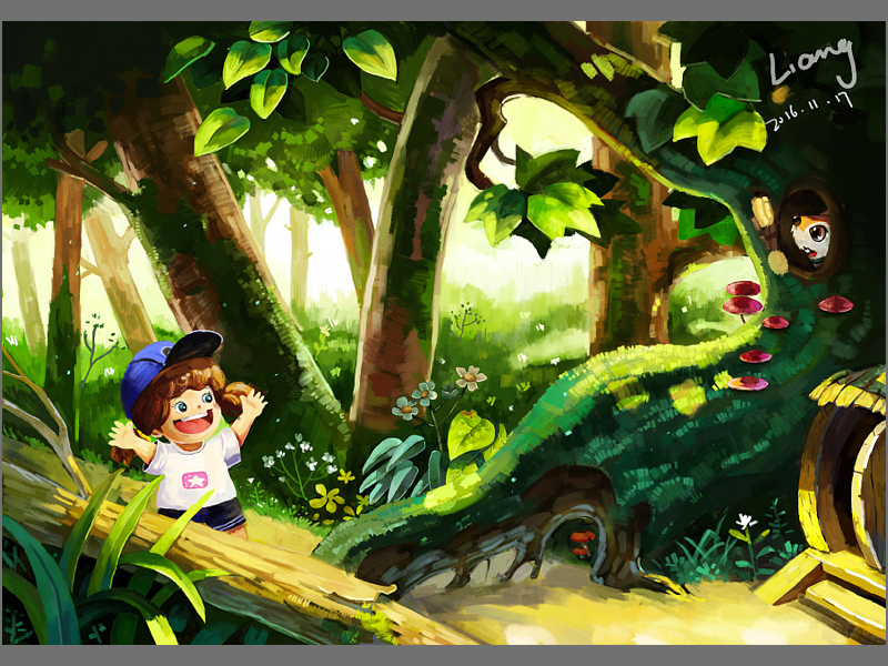 The forest adventure illustration