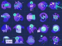Illustrations for Endeavour Ventures