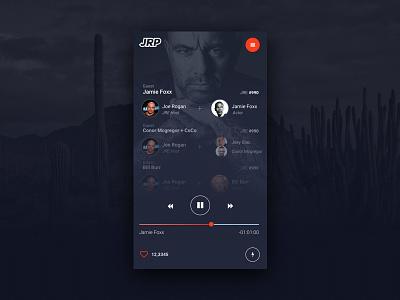 Joe Rogan Podcast UI brand conor mcgregor dark logo clean ios application web ux ui joe rogan website