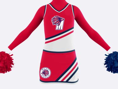 Cheerleader Squad Logo
