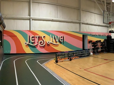 Mural for Harbor Athletic Club