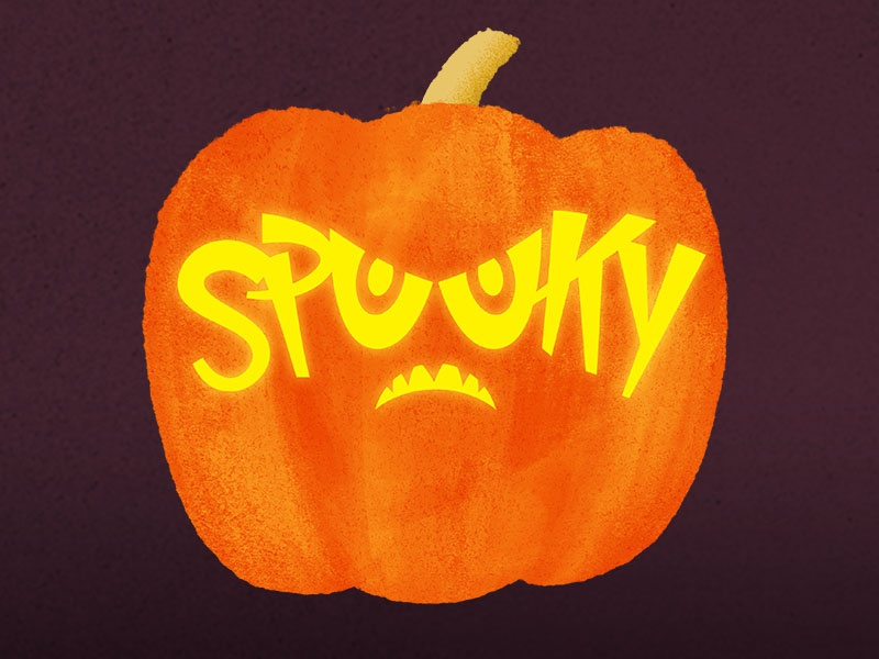 spooky pumpkin carving stencil by ray mawst dribbble dribbble rh dribbble com scary pumpkin carving stencils printable spooky pumpkin carving stencils free