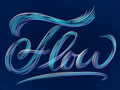 Image result for flow lettering