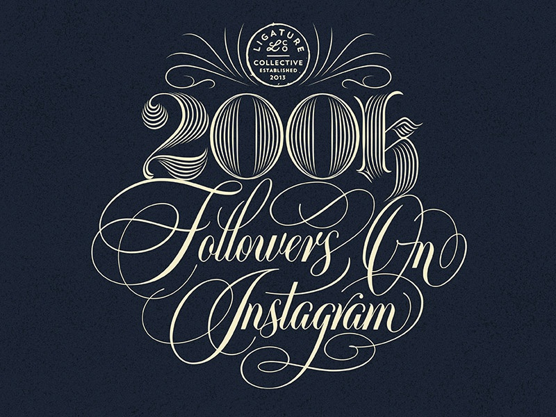 Ligature Collective - 200k Followers On Instagram by Ray