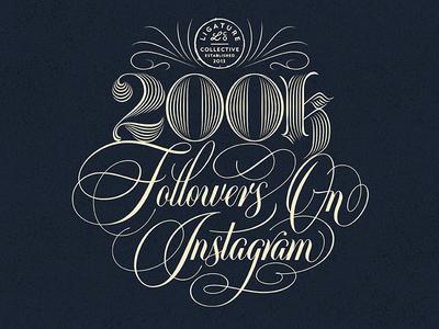 Ligature Collective - 200k Followers On Instagram