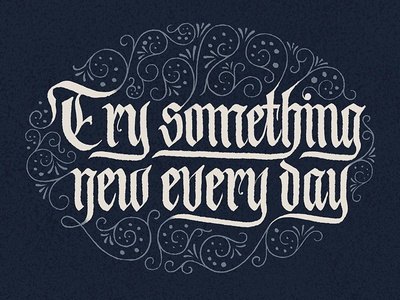 Try Something New Every Day