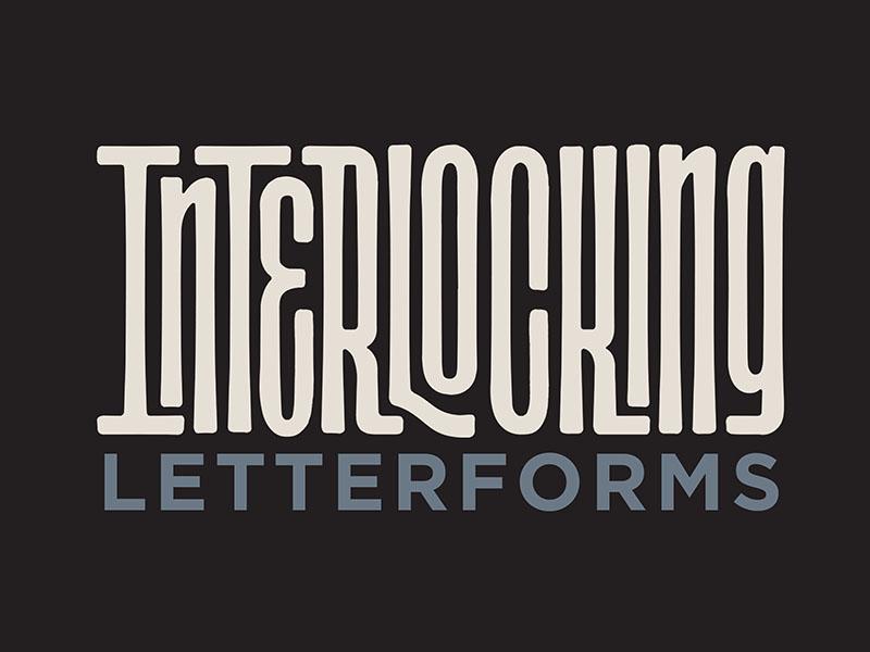 Interlocking Letterforms - Title For My New Online Class script sans-serif interlocking interlock handlettering lettering