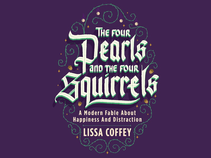 Fable Cover Design - Reject fable squirrels pearls calligraphy gothic handlettering lettering