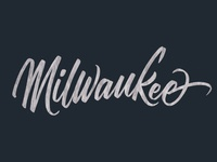Milwaukee Brush Script Lettering