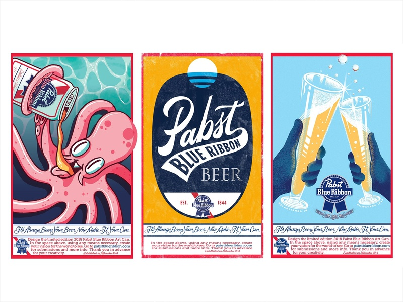Pabst Beer Art Contest Dribbble bubbles glass lake michigan water octopus pabst milwaukee beer design wisconsin logo script texture sketch drawing type illustration handlettering typography lettering