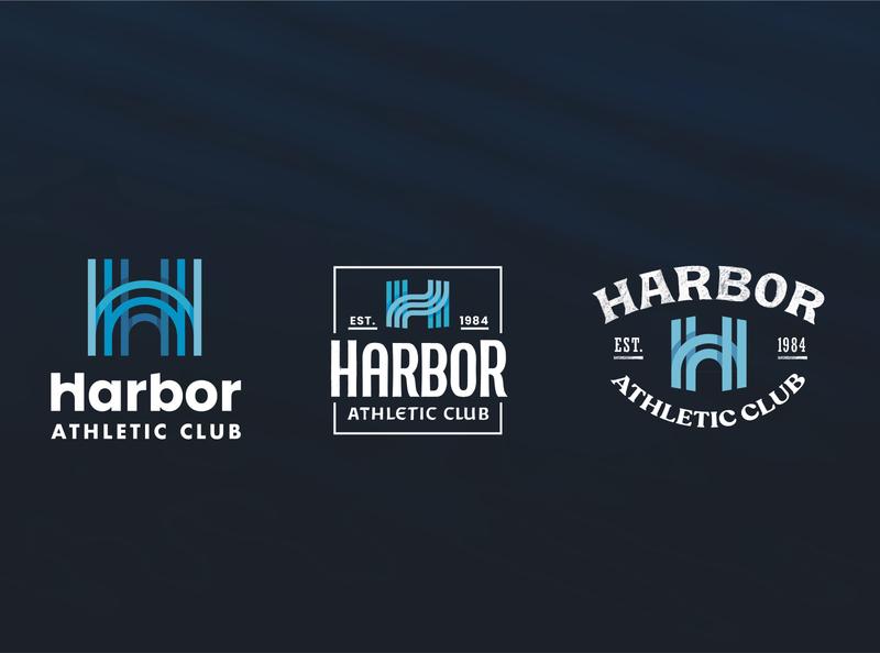 Logo Ideas water waves monogram lettering logo
