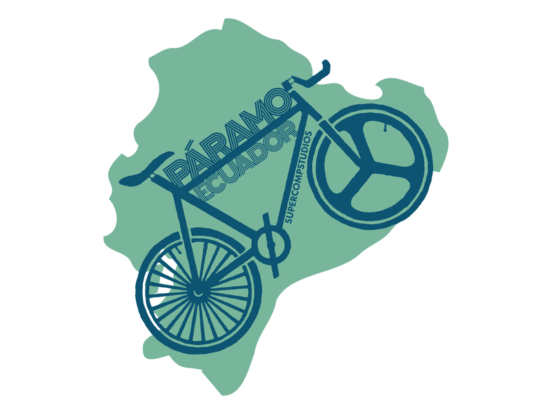Páramo Ecuador Bike - Green illustration design757 graphic design equator paramo ecuatoriano fixedgear fixie bicycle bike paramo