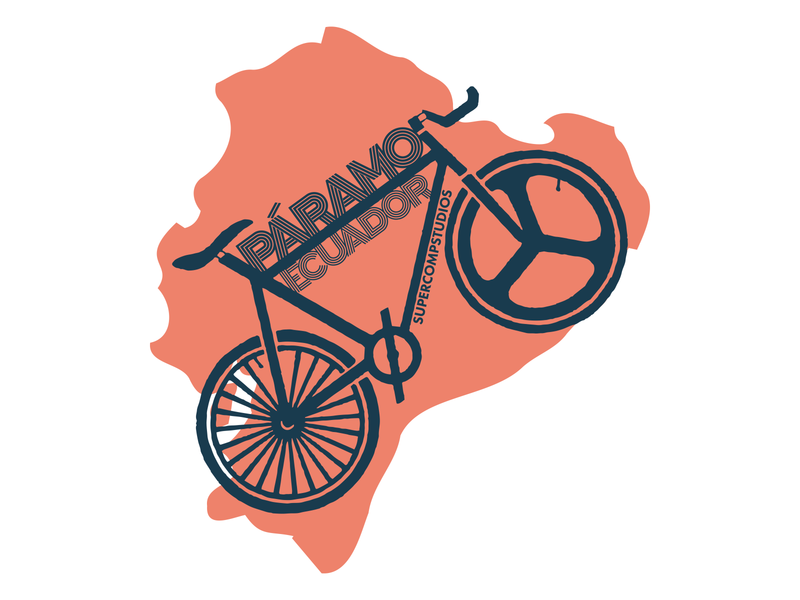 Páramo Ecuador Bike - Pink fixedgear fixie paramo ecuatoriano equator ecuador illustration graphic design design757 bike bycicle