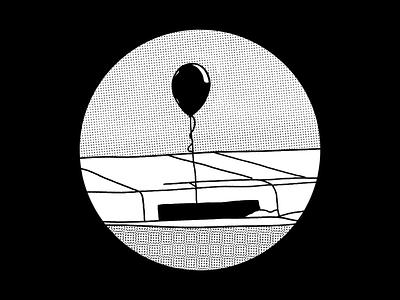 float halftones ballon float inktober2020 inktober digital illustration design757 design illustration graphic design