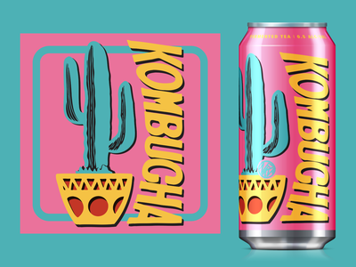 Cactus Kombucha tea kombucha cactus mock-up package design lettering typography logo identity design branding nfk digital illustration design757 design illustration graphic design