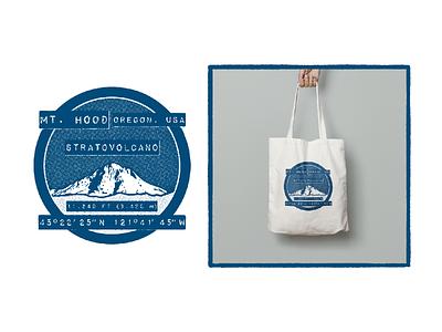 Mt. Hood Oregon, USA  Stratovolcano patch badge snow volcano stratovolcano portland oregon mt. hood design illustration graphic design