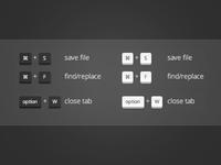CSS3 Keyboard Shortcut Helper