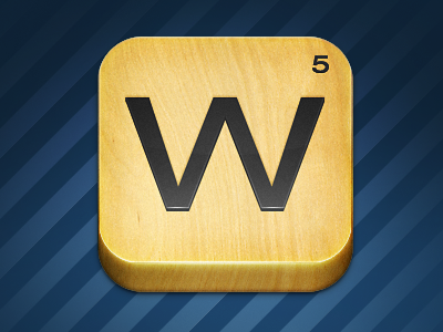 Words with Friends for fun icon words w wood
