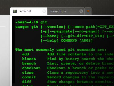Terminal terminal shell koding git