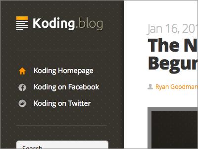 Koding Blog blog wordpress koding open sans